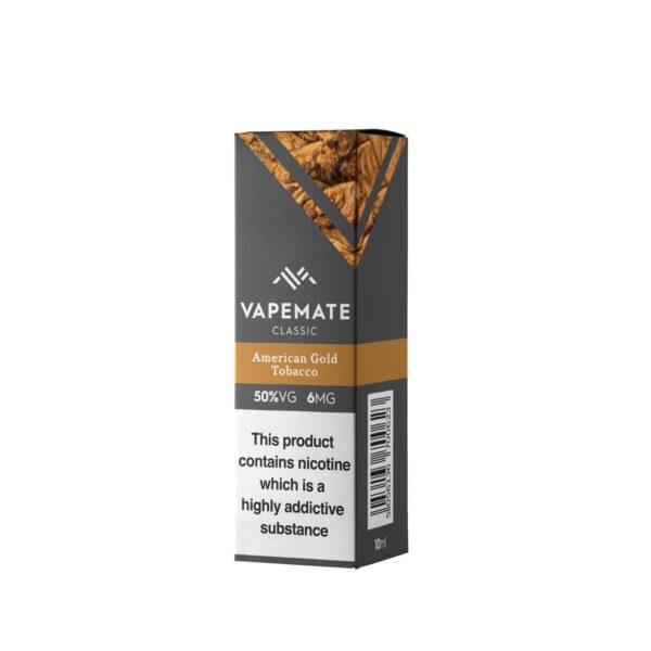 American Gold Tobacco E Liquid UK   Vape Juice By Vapemate